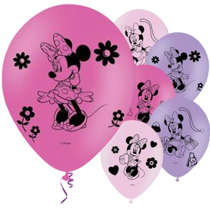 Minnie Mouse Balloons - 11inch Latex (6pk)