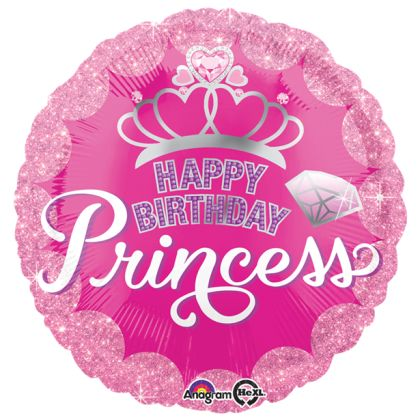 Pink Princess Crown Balloon - 18inch Foil
