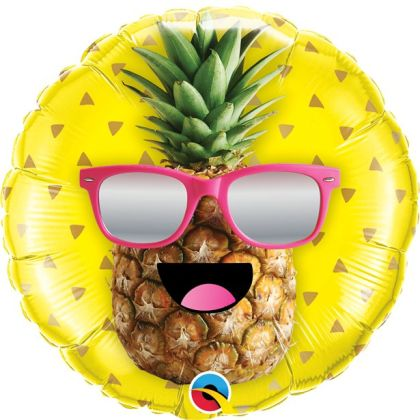Mr Cool Pineapple Foil Balloon - 18inch Balloon