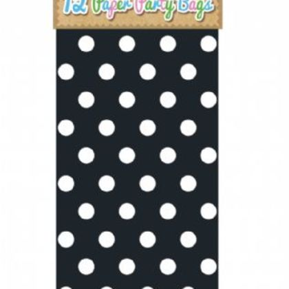 Paper Party Bags Pack Of 12 - Polka Dot Design