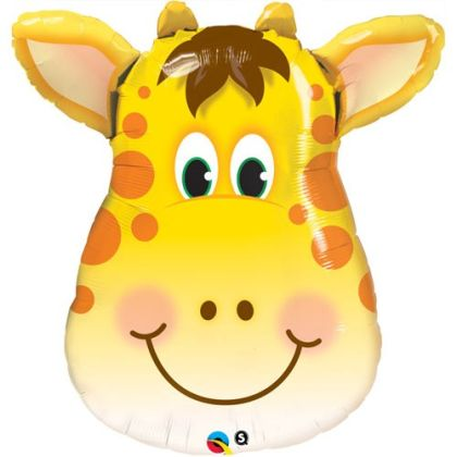 Birthday Jolly Giraffe Supershape Balloon - 32inch Foil