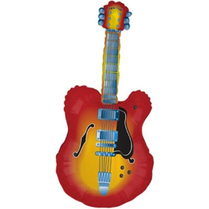 Guitar Supershape Giant Balloon - 41inch Foil