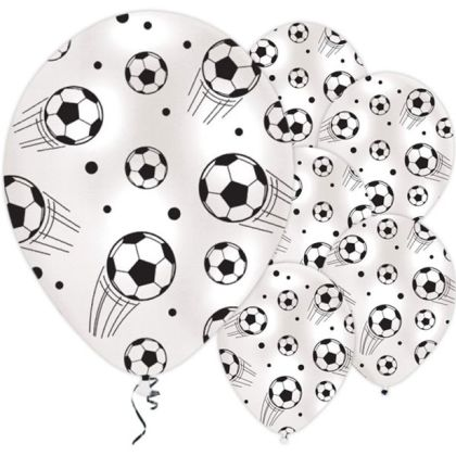 Football Print Balloons - 11inch Latex (6pk)
