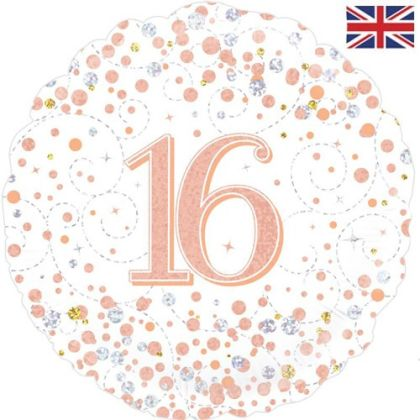 Rose Gold Sparkle Age Balloons