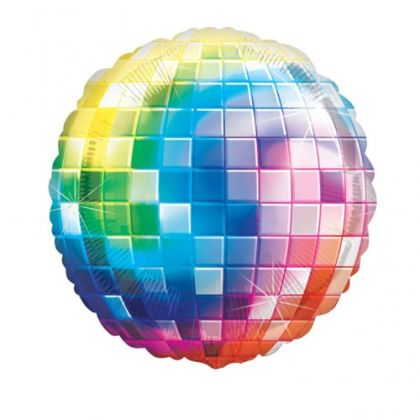 70s Disco Ball Fever Balloon - 32inch Foil