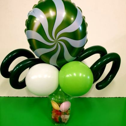 Green Swirl Candy Cup