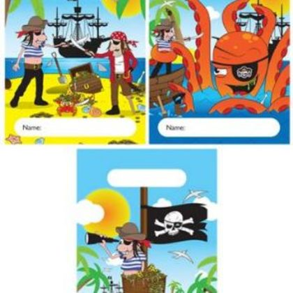 Plastic Party Bags - Pirate Theme