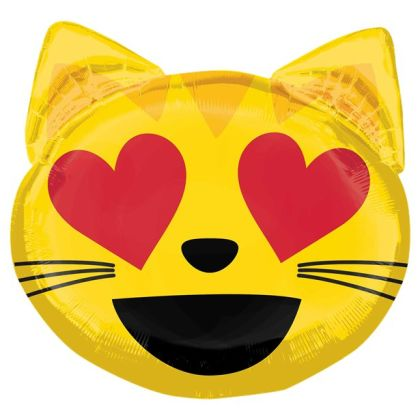 Cat Love Emoticon Supershape - 22inch Foil