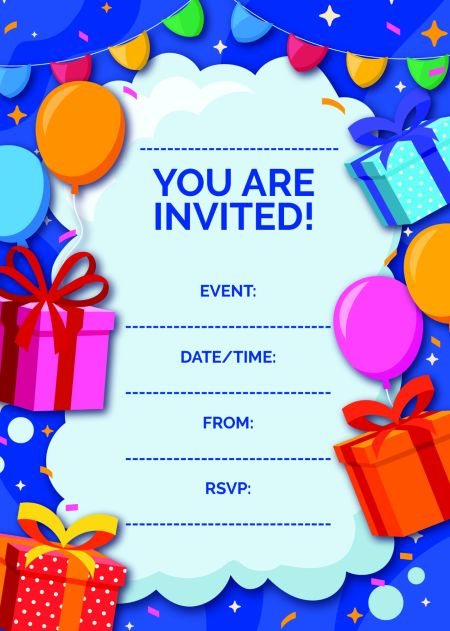 You Are Invited - Blue