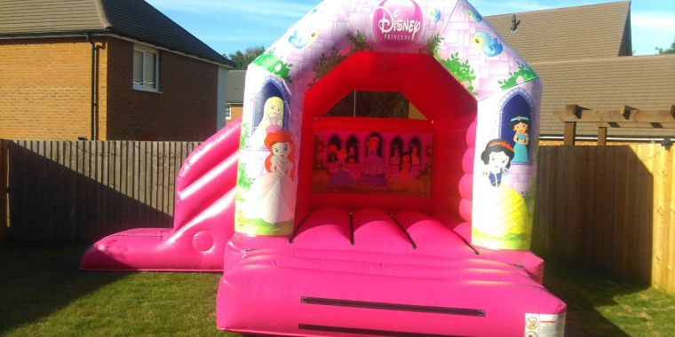 New Princess Bouncy Castle With Slide