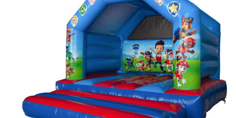 The New Paw Patrol Bouncy Castle Out In Rainford St Helens