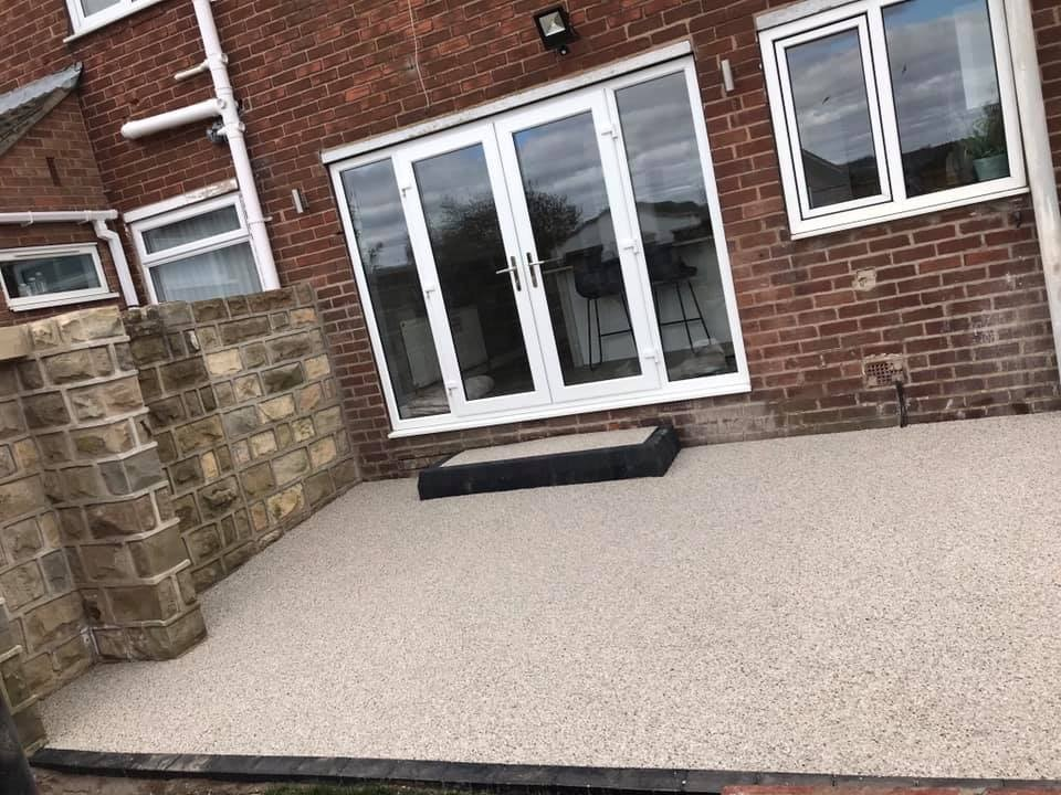Resin Bound Patio Install In Bolton On Dearne