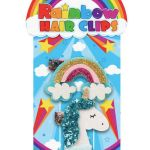 Rainbow And Unicorn Hair Clips