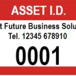 1000 X Numbered Rectangle Appliance / Asset I.d. Stickers 51mm X 25mm Pvc Waterproof