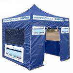 Commercial Grade Pop Up Gazebo Tent & Frame (4 Sides, Valance And Roof) 3x3m