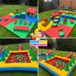 Multi Colour Soft Play Setup With Ball Pool