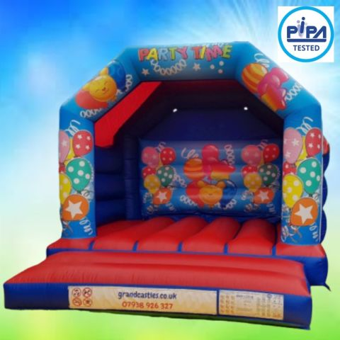 Party Time Themed Childrens Bouncy Castle