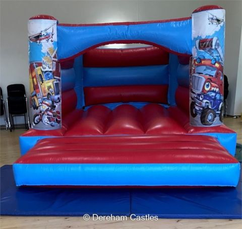 11ft X 15ft Low Height Transport Themed Bouncy Castle