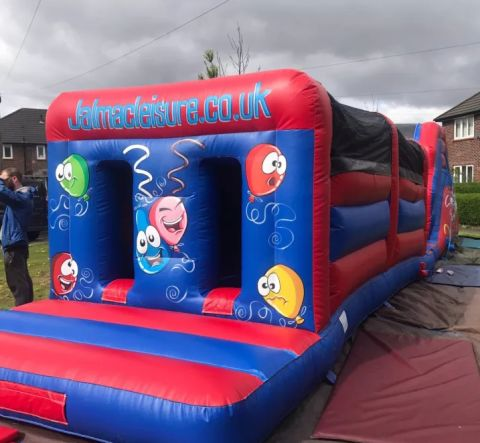 Party Themed Assault Course With Lights  48 X 12 Feet Music