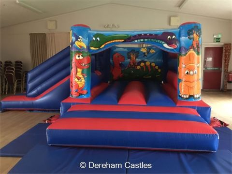 15 X 18 Low Height Dinosaur Bounce And Slide Combo