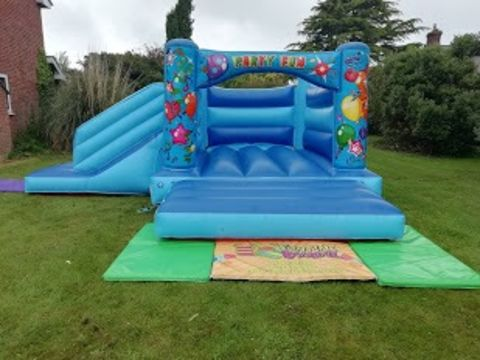 Blue Balloons Bounce And Slide Bouncy Castle