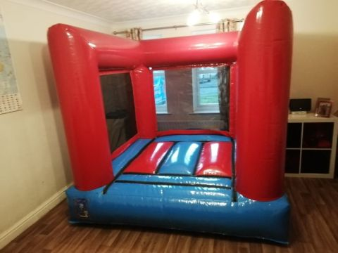 Indoor Red And Blue Bouncy Castle
