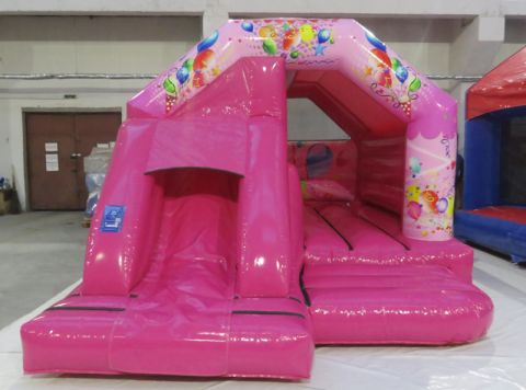 New Pink Party Front Slide Castle Hire Liverpool