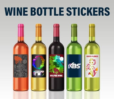 Wine Bottle Stickers 74mm X 104mm
