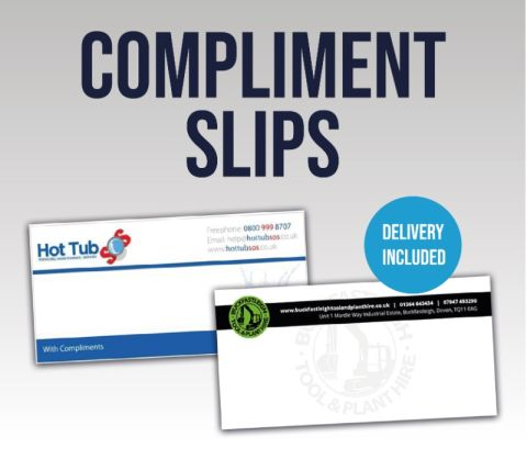 Compliment Slips 120gsm Dl Size