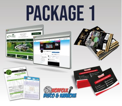 New Business Start Up - Website, Design & Print Package 1