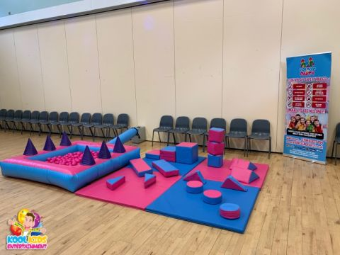Pink And Blue Soft Play Setup