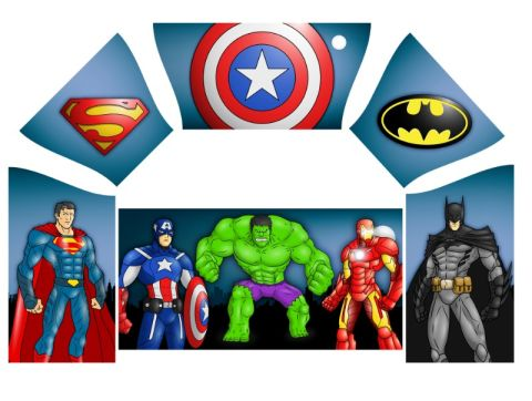 Super Heroes Artwork