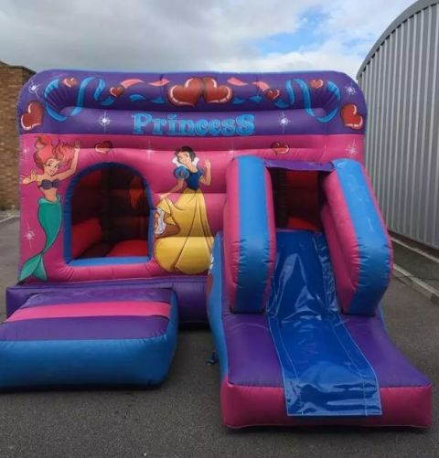 12ft X 18ft Princess Themed Low Level Combi Castle