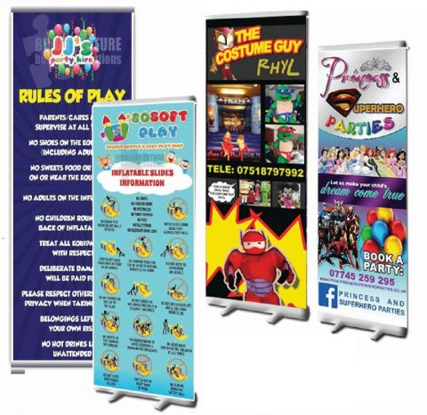 Sturdy Deluxe Pop Up Banner - £54+vat And £10+vat Artwork / Design