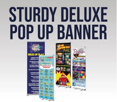 Sturdy Deluxe Pop Up Banner - £54+vat Plus Artwork / Design
