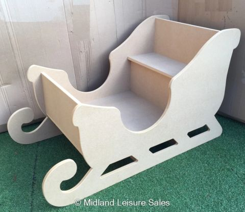 Santa Sleigh Wooden Display Prop
