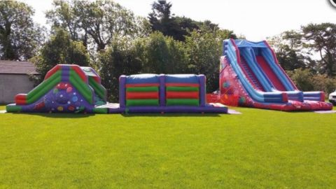 Giant Slide And Obstacle Package