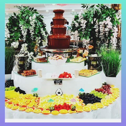 Medium Chocolate Fountain And Fruit Combi Display