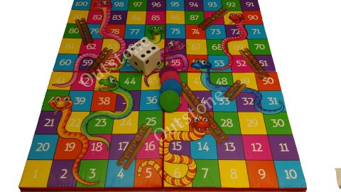 Snakes And Ladders Garden Game