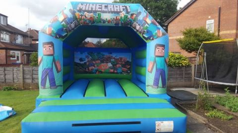 12ft X 15ft Mine Craft Bouncy Castle Liverpool