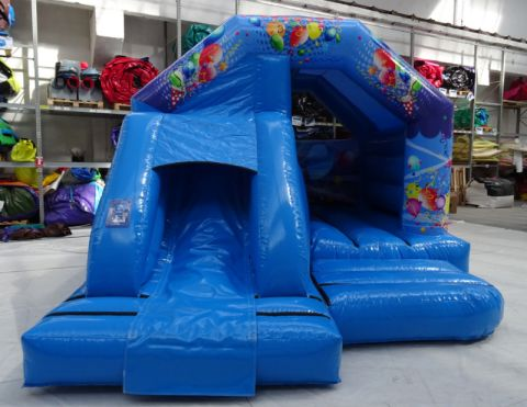 New Blue Party Front Slide Castle Hire Liverpool