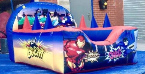 Superhero Air Juggler Ball Pit