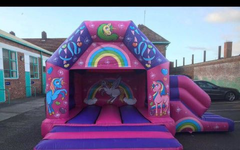 Unicorn Disco Castle With Slide