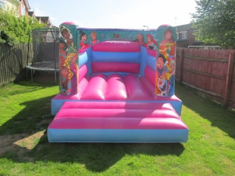 Pink Princess H Style Bouncy Castle