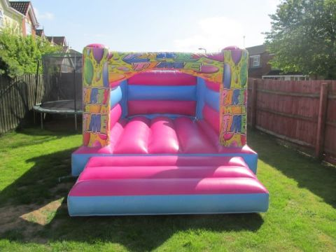 Pink Balloons H Style Bouncy Castle