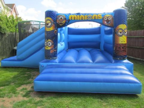 Blue Minion Bounce And Slide Bouncy Castle