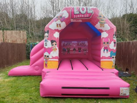 Lol Bouncy Castle Slide