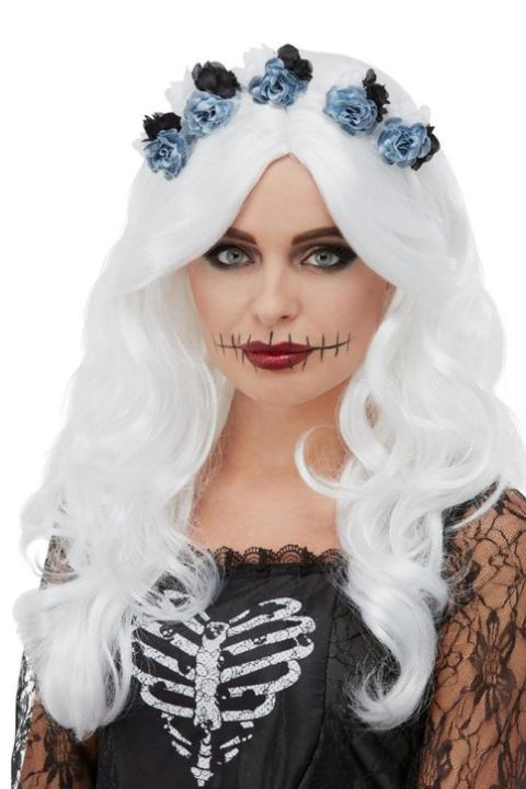White Day Of The Dead Wig