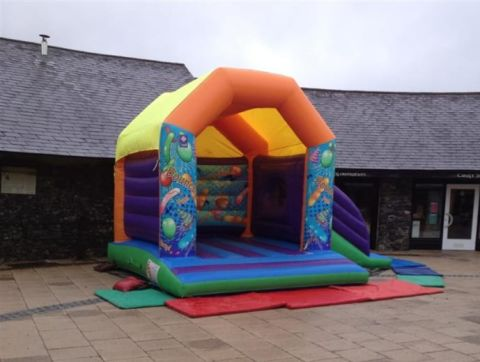 Large Combi Castle 20ftx17ft With Small Slide