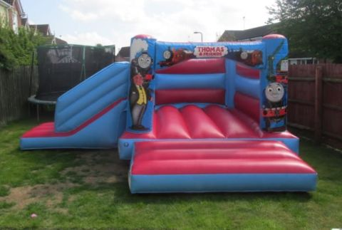 Red Thomas The Tannk Engine Bounce And Slide Bouncy Castle